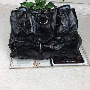 COACH PATENT LEATHER BLACK SHOULDER BAG
